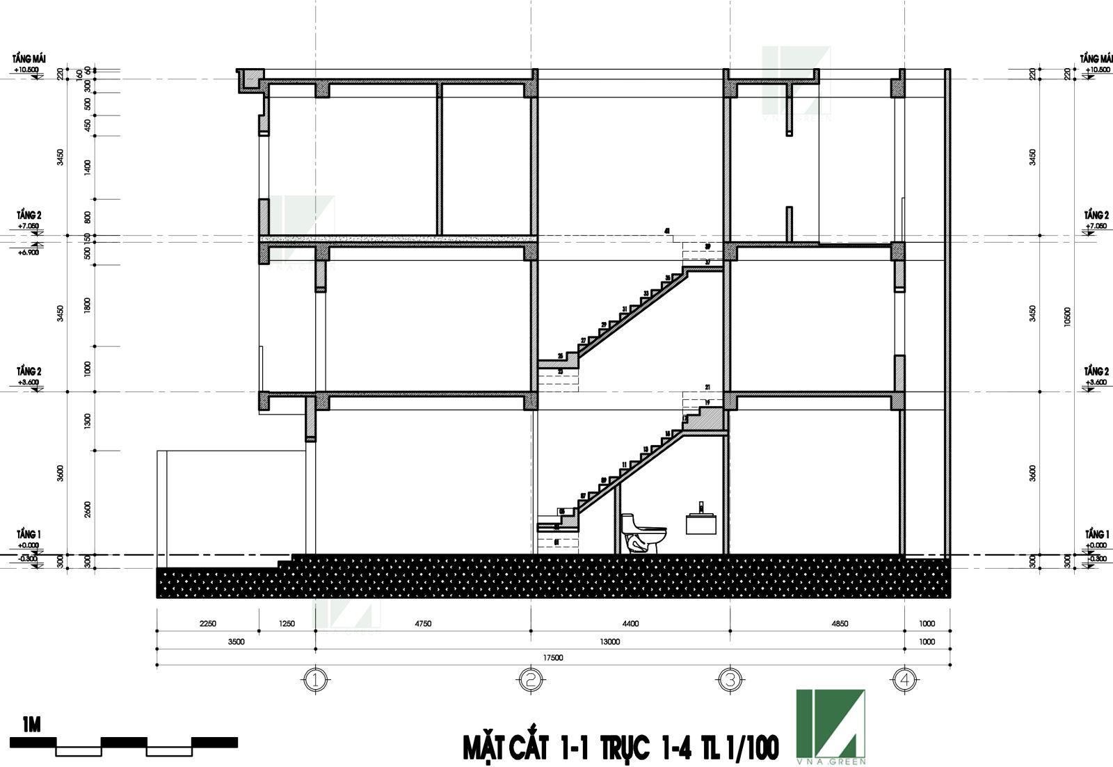 bản vẽ mặt bằngmẫu thiết kế nhà phố hiện đại 3 tầng mặt tiền 4m