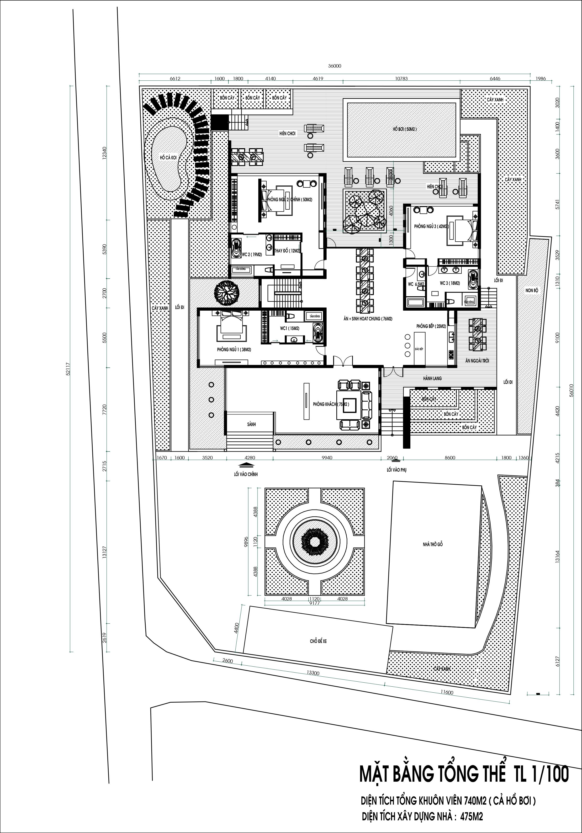 Bản vẽ mặt bằng mẫu biệt thự hiện đại 2 tầng - Kiến Trúc Việt Xanh