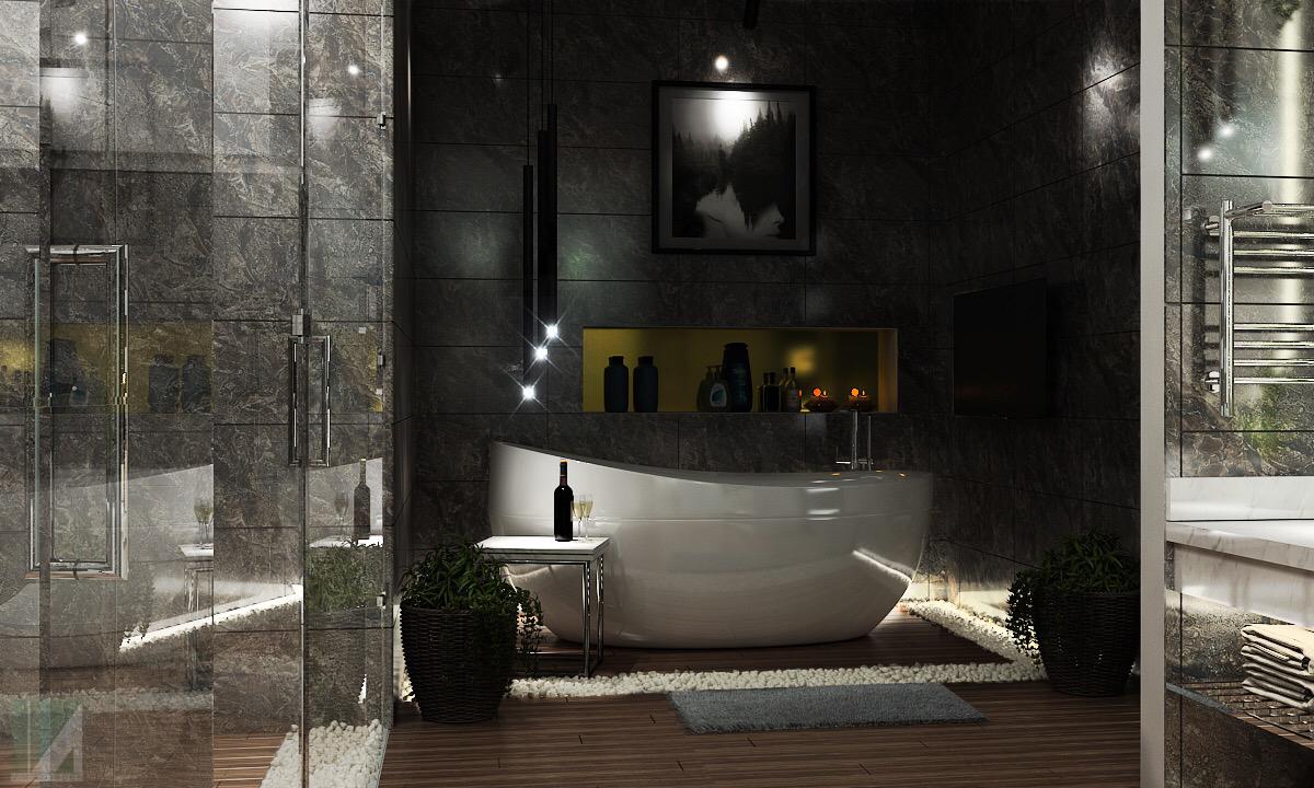 nội thất phòng tắm biệt thự nghỉ dưỡng 2 tầng
