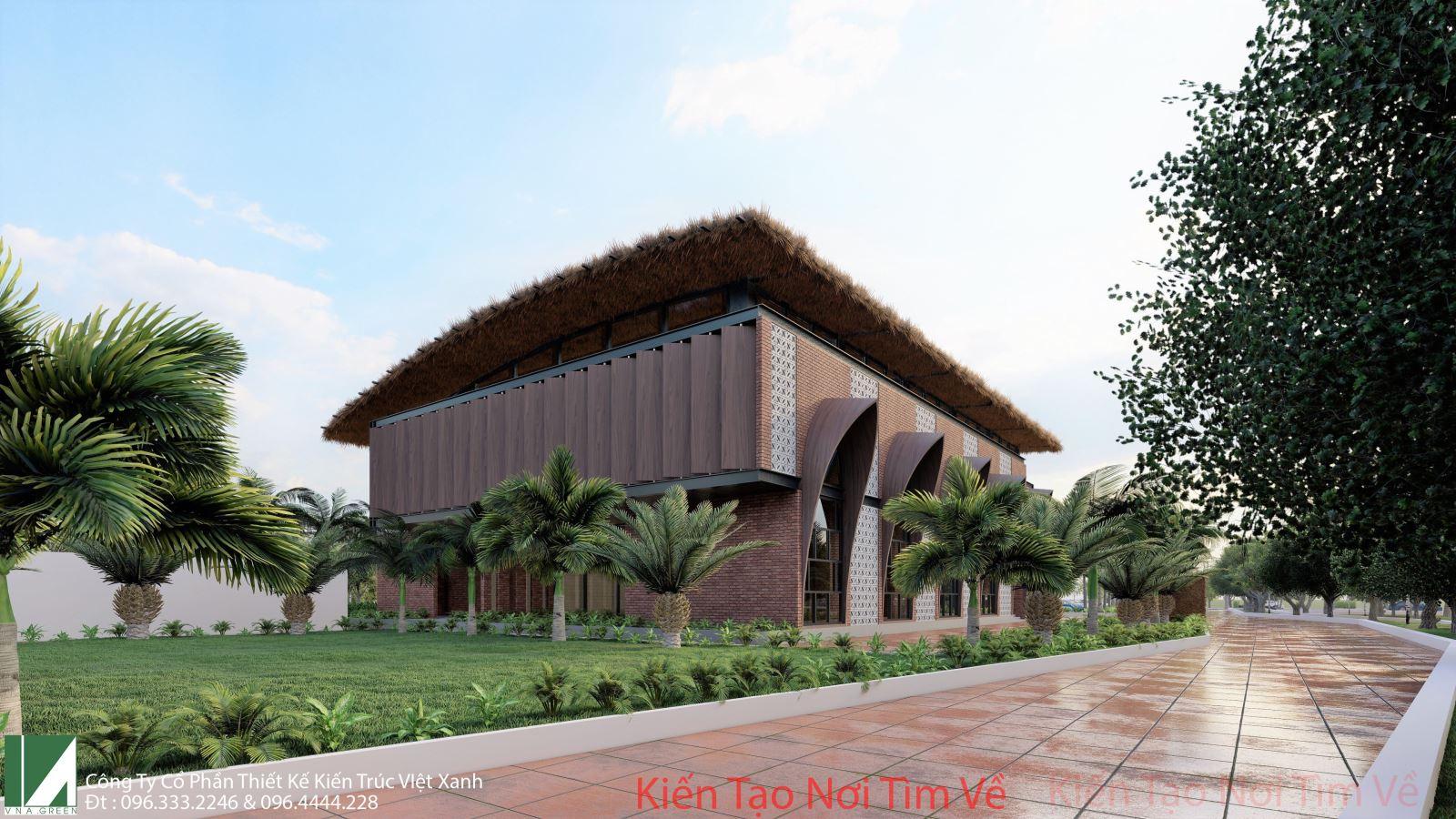mẫu thiết kế nhà hàng ăn uống-kiến trúc việt xanh