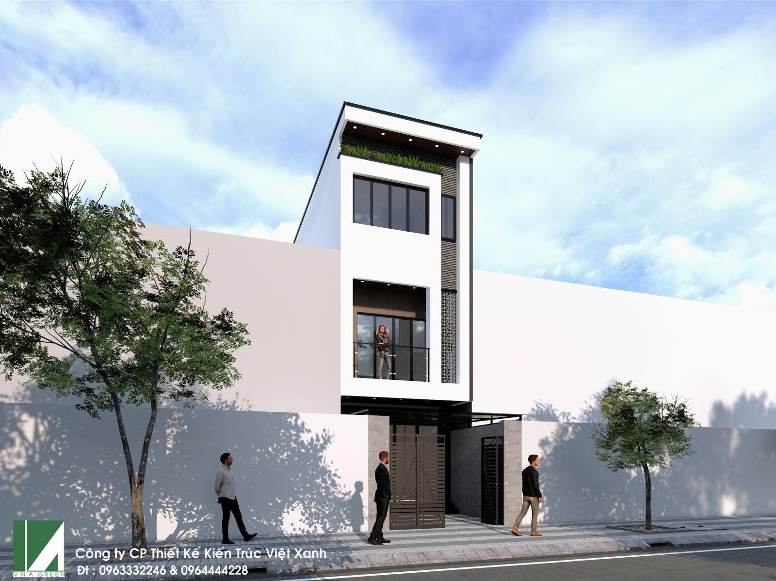 mẫu thiết kế nhà phố hiện đại 3 tầng mặt tiền 4m