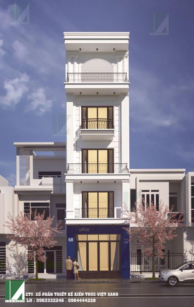 Mẫu thiết kế nhà phố 5 tầng tân cổ điển