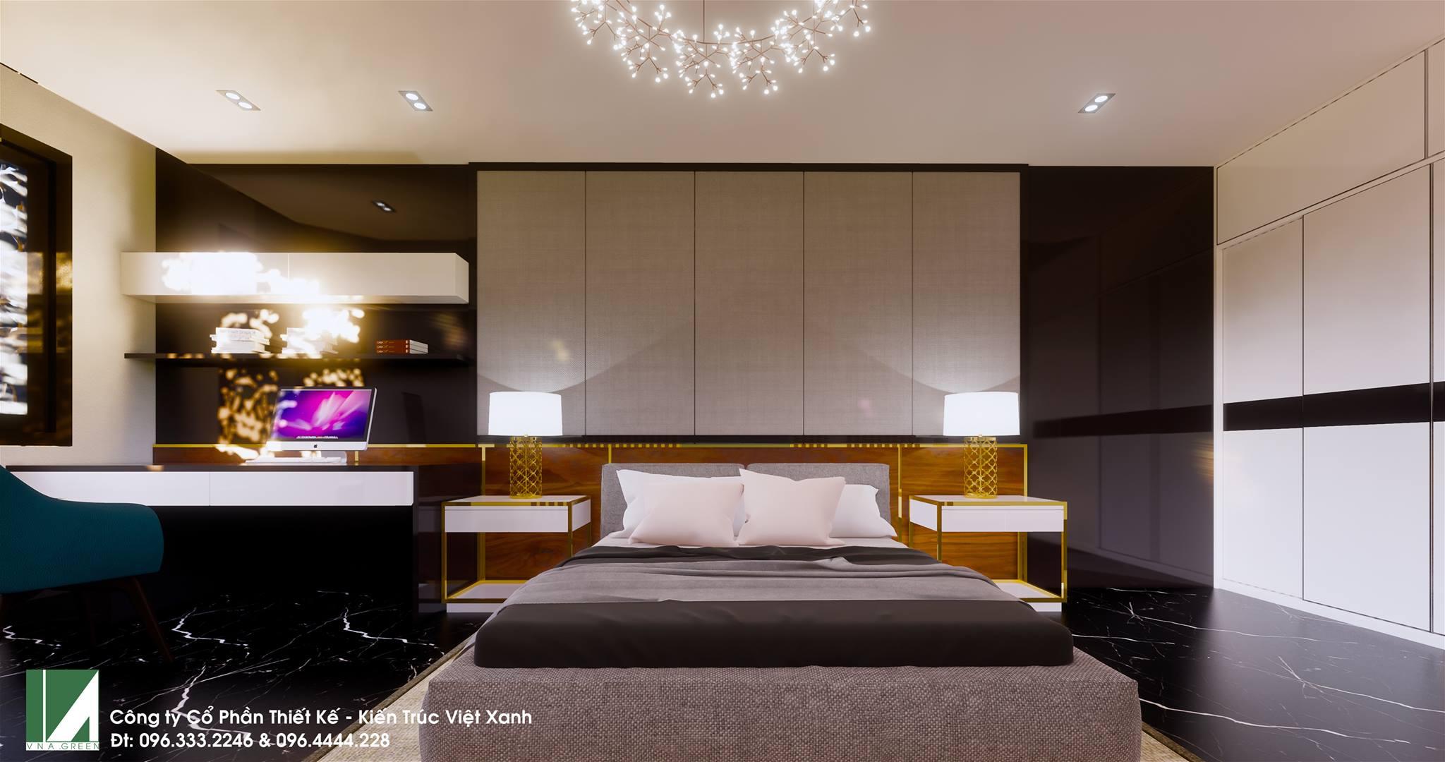 mẫu thiết kế nội thất nhà phố 4 tầng mặt tiền 5m