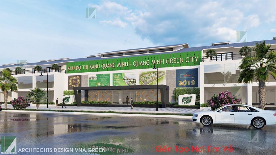 Văn phòng giao dịch dự án khu đô thị quang minh thủy nguyên hải phòng kiến trúc việt xanh