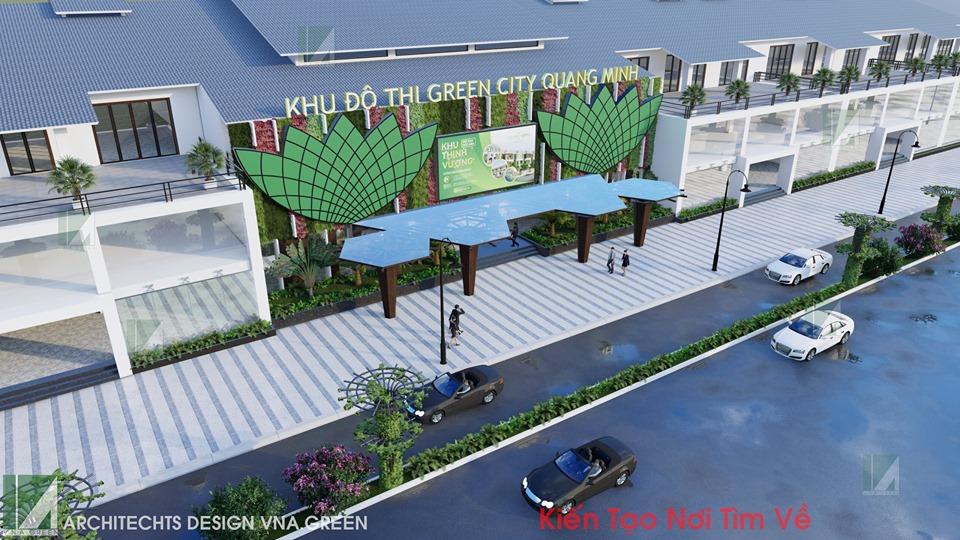 thiết kế văn phòng giao dịch quang minh kiến trúc việt xanh