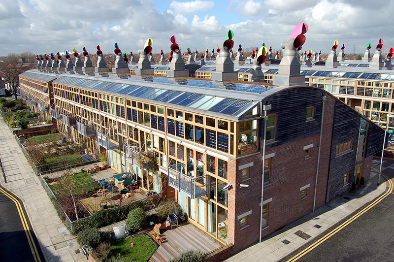 Công trình xanh phát triển năng lượng sạch Beddington ở Anh
