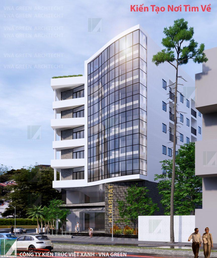 thiết kế khách sạn 3 sao hiện đại