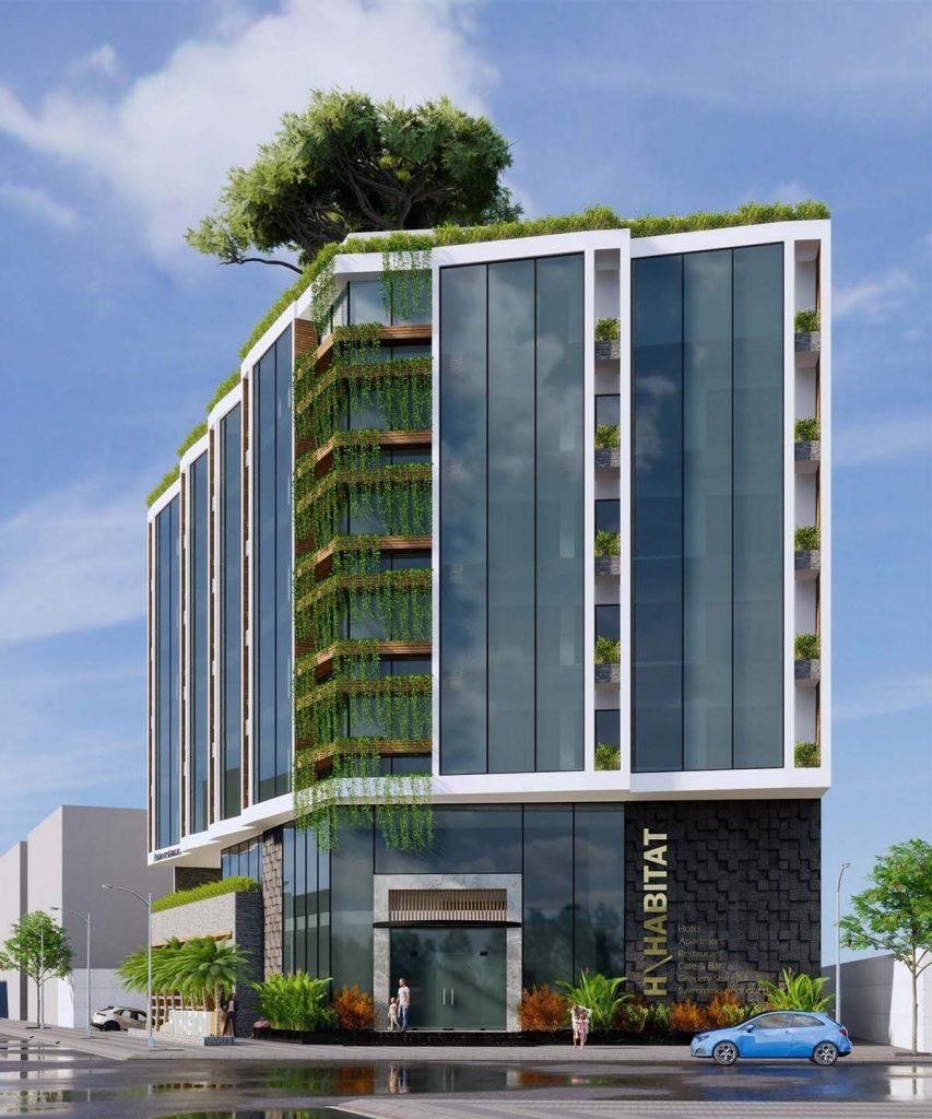 mẫu thiết kế khách sạn 3 sao hiện đại