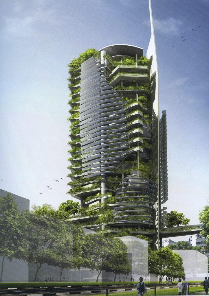 mặt dựng xanh trong kiến trúc