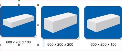 kích thước tiêu chuẩn của gạch aac
