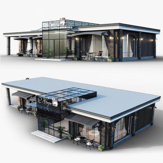 công trình nhà hàng xây bằng nhà thép tiền chế