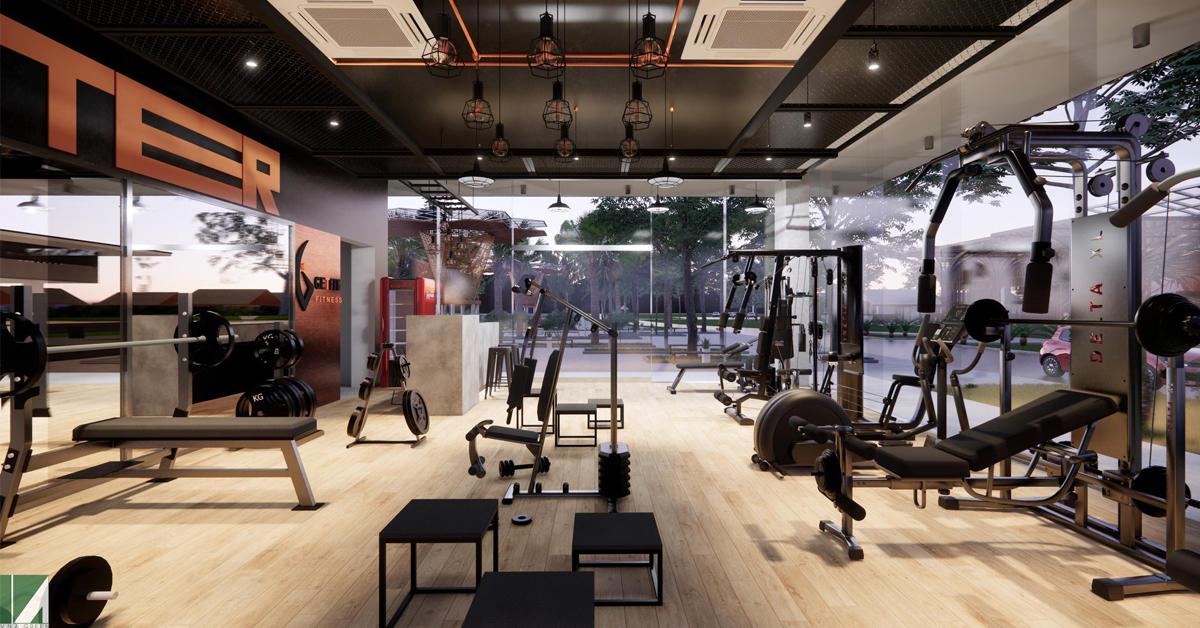thiết kế phòng gym