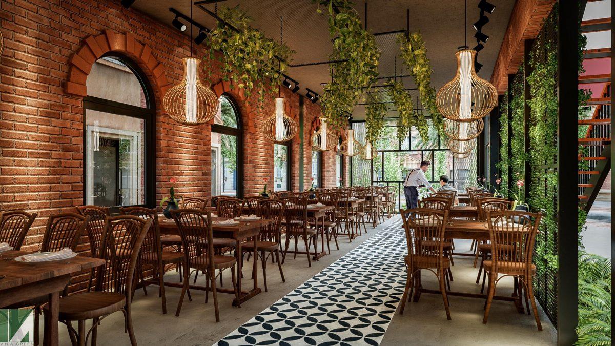 mẫu thiết kế nhà hàng ăn uống đẹp