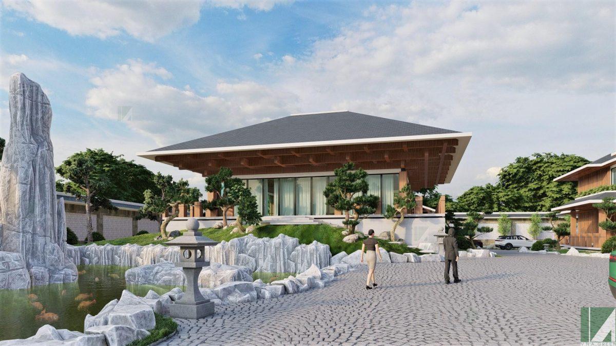 Mẫu Biệt Thự Hiện Đại Sân Vườn BTHD2-05
