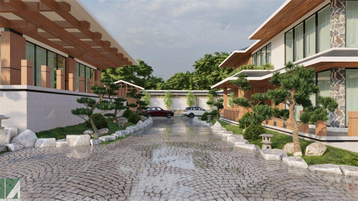 mẫu biệt thự 2 tầng sân vườn nhật bản bthd2-05