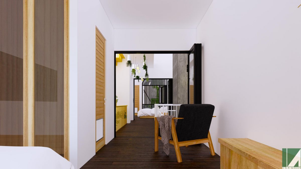 nội thất nhà ống 3 tầng 90 m2 hướng tây nphd3-02