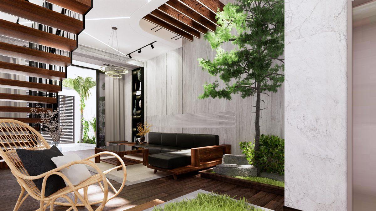 thiết kế nội thất nhà ống 3 tầng nphd3-03