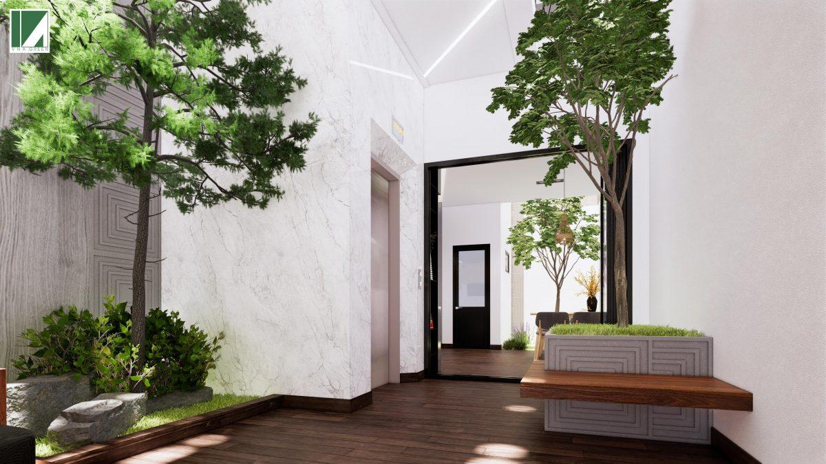 phòng khách mẫu nhà ống 3 tầng 90 m2 nphd3-03