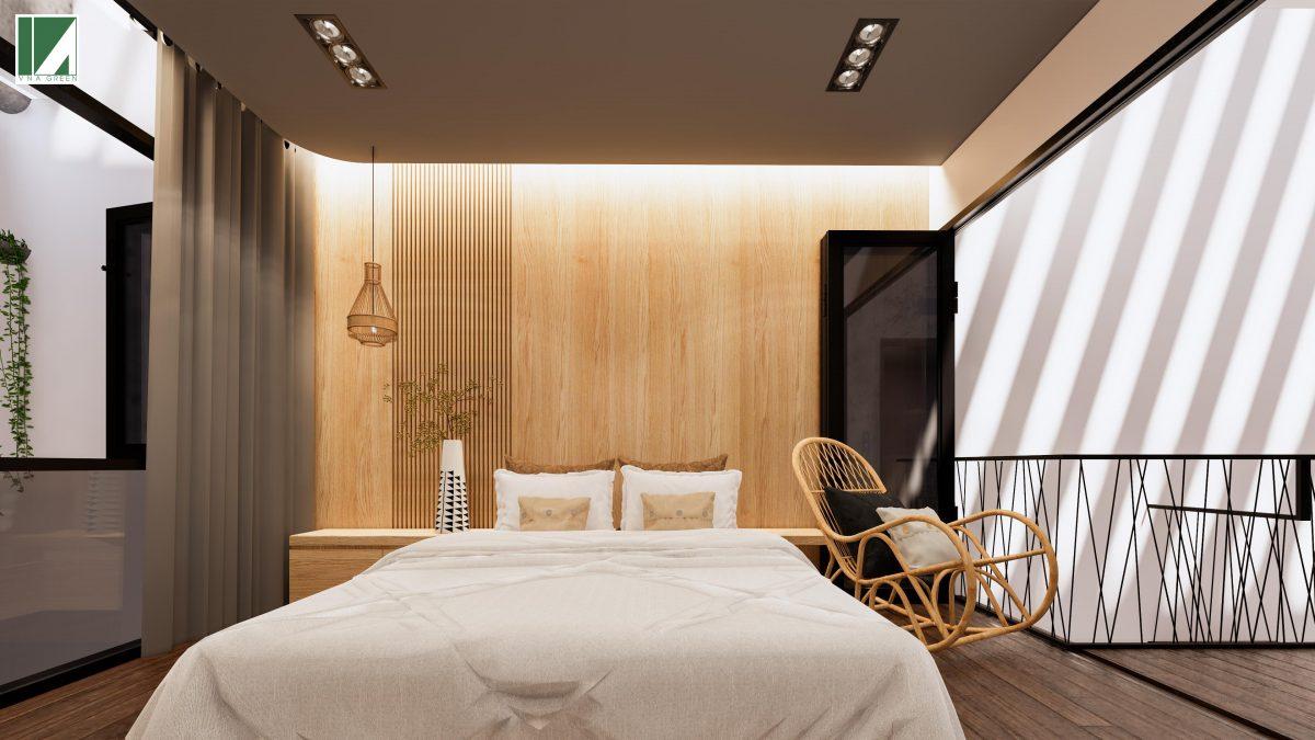 phòng ngủ phòng bếp phòng khách mẫu nhà ống 3 tầng 90 m2 nphd3-03