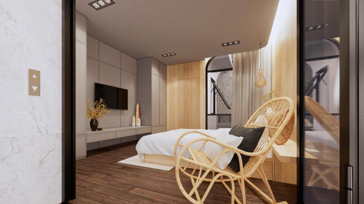 phòng ngủ mẫu nhà ống 3 tầng nphd3-03