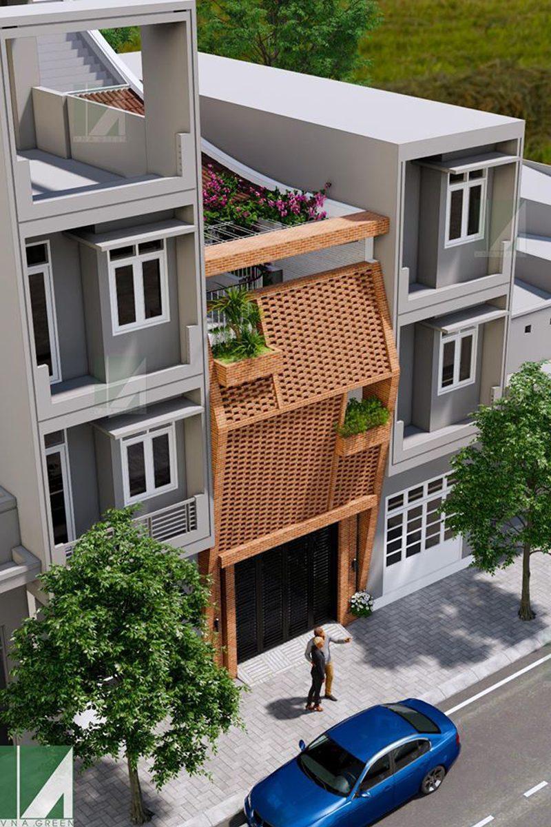 mẫu thiết kế nhà ống 3 tầng 90 m2 hướng tây nphd3-02
